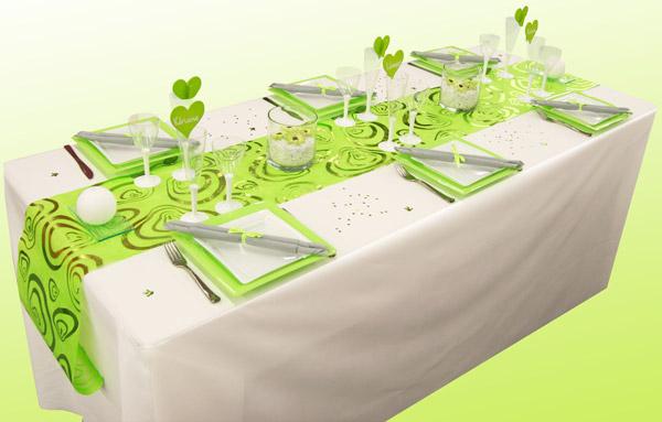 Décoration de table romantique