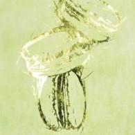 Chemin de table macarons, vert anis