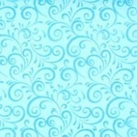 Chemin de table, volutes pailletées, turquoise