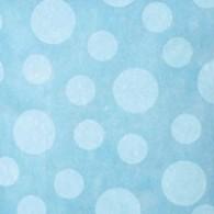 Chemin de table gros pois en intissé, turquoise -