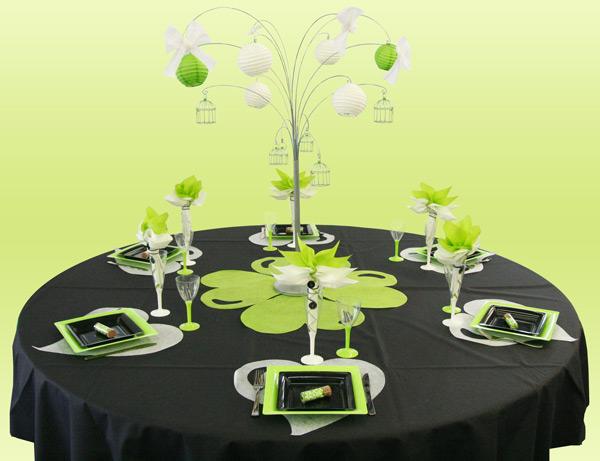 Décoration de table trèfle
