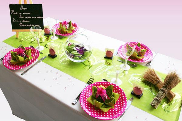 Décoration de table acidulée et gourmande