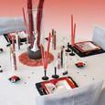 Décoration de table de mariage Cabaret romantique