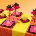Décoration de table de mariage : thème oriental