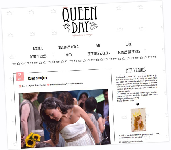 Blog Queen for a day