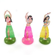 3 Centres de table filles d´hawai 9cm
