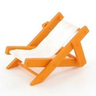 Transat orange en bois et toile