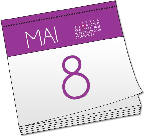 Attention, jours fériés les 8 et 9 mai !