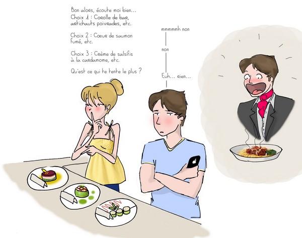 Le (difficile) choix du menu