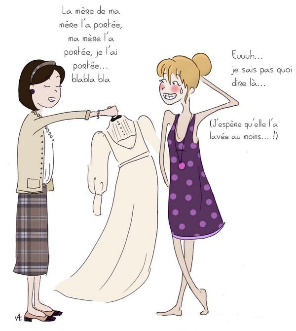 La robe de mariée en héritage...