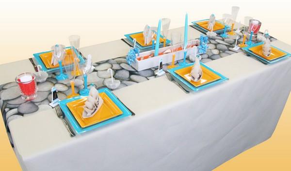 Décoration de table sur le thème des vacances en Bretagne
