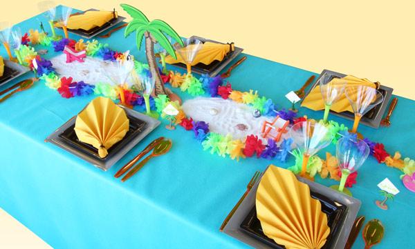 Comment créer un chemin de table tropical ?