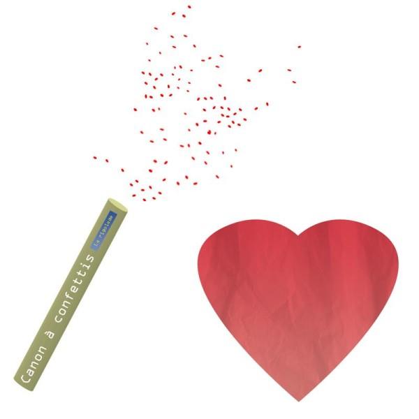 Canons à confettis, coeur
