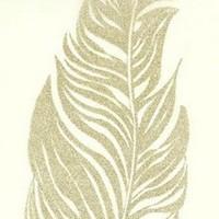 Chemin de table, plumes pailletées, doré