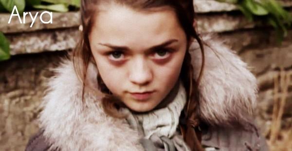 Arya, de la série Game of Thrones