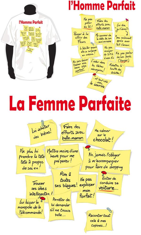 T-shirt la femme parfaite / l'homme parfait