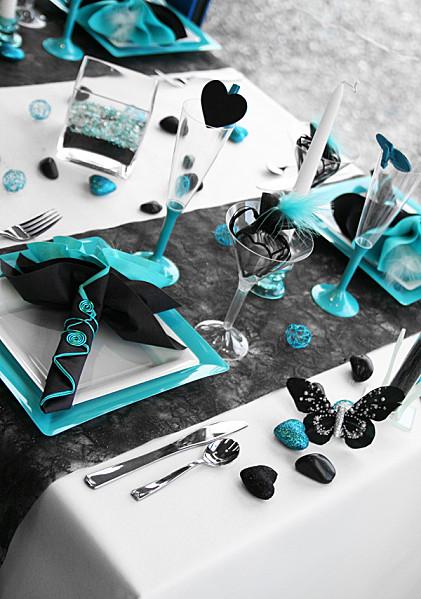 Nos chemins de table... couleur noir