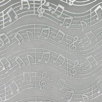 Chemin de table organza, musique, noir