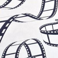 Chemin de table cinéma, motif pellicule