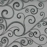 Chemin de table arabesques, noir
