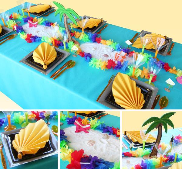 Une décoration de table tropicale