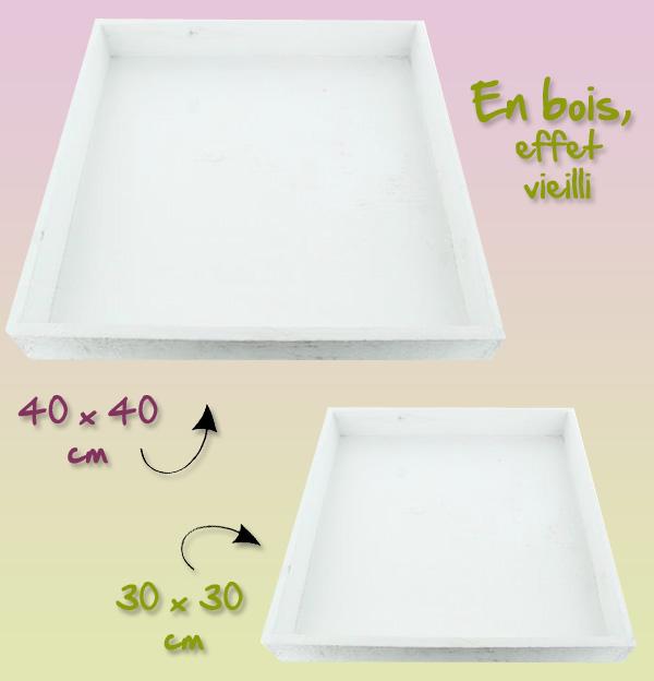 Créez vos centres de table avec ces plateaux carré !