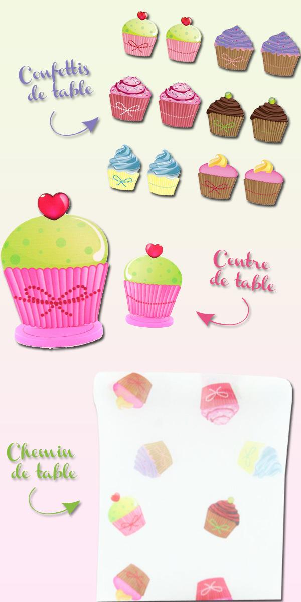 Décoration cupcakes sur le thème de la gourmandise