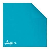 Serviettes en papier Fiesta, 40 x 40cm, bleu azur