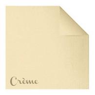 Serviettes en papier Fiesta, 40 x 40cm, crème