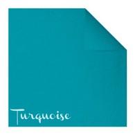 Serviettes en papier Fiesta, 40 x 40cm, turquoise