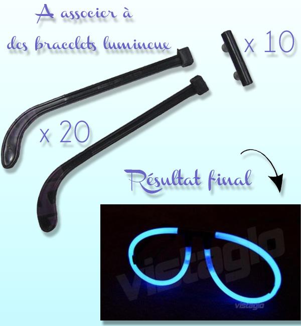 Kits connecteurs lunettes fluos