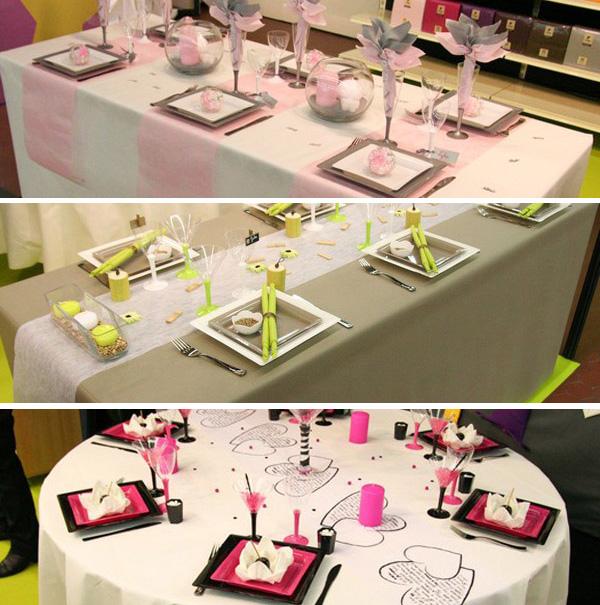 Décorations de table créées pour le Salon du Mariage d'Angers