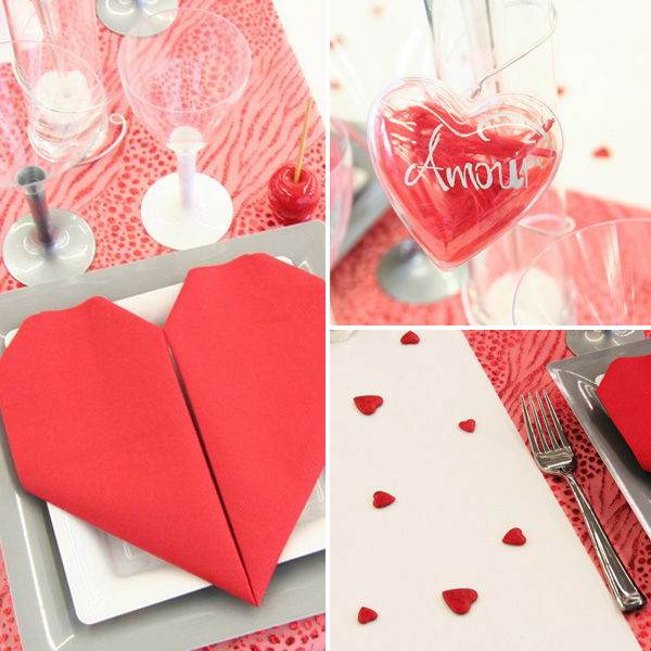 Décoration de table de mariage Saint-Valentin
