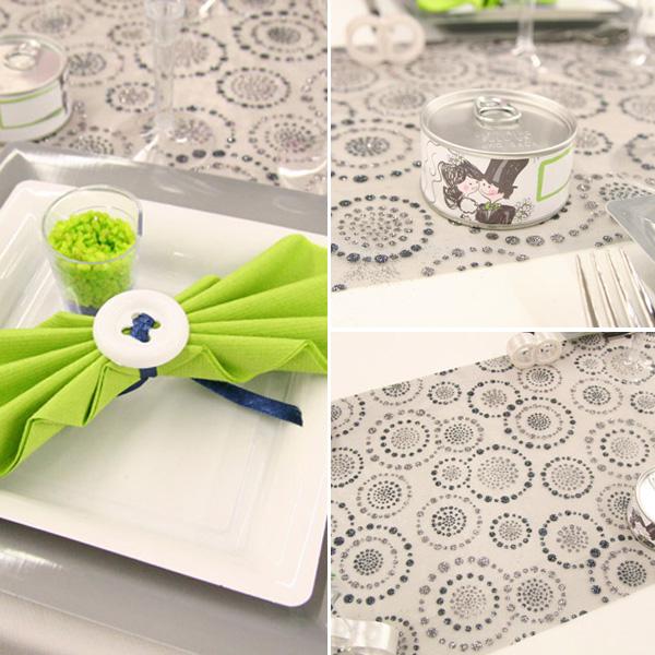 Décoration de table de mariage Cercles & Ronds