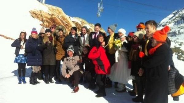 Alpe d'Huez : un mariage à 2700 mètres d'altitude !