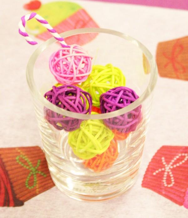 Centre de table : une idée colorée et sucrée !