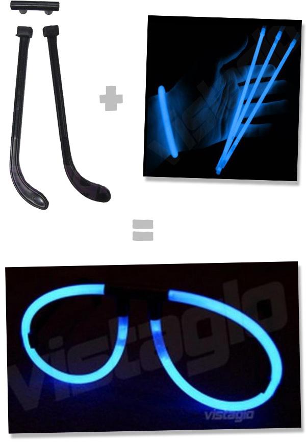 10 Kits connecteurs lunettes fluos