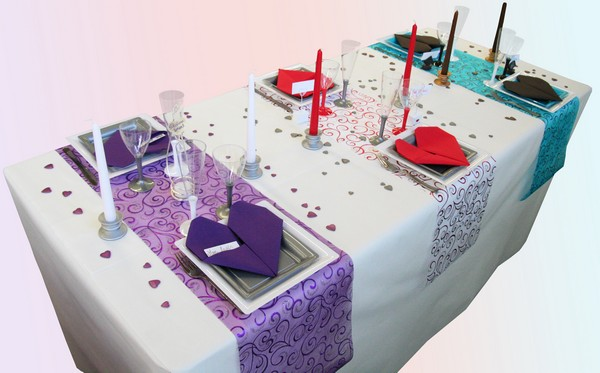 Décorations de table pour la Saint Valentin
