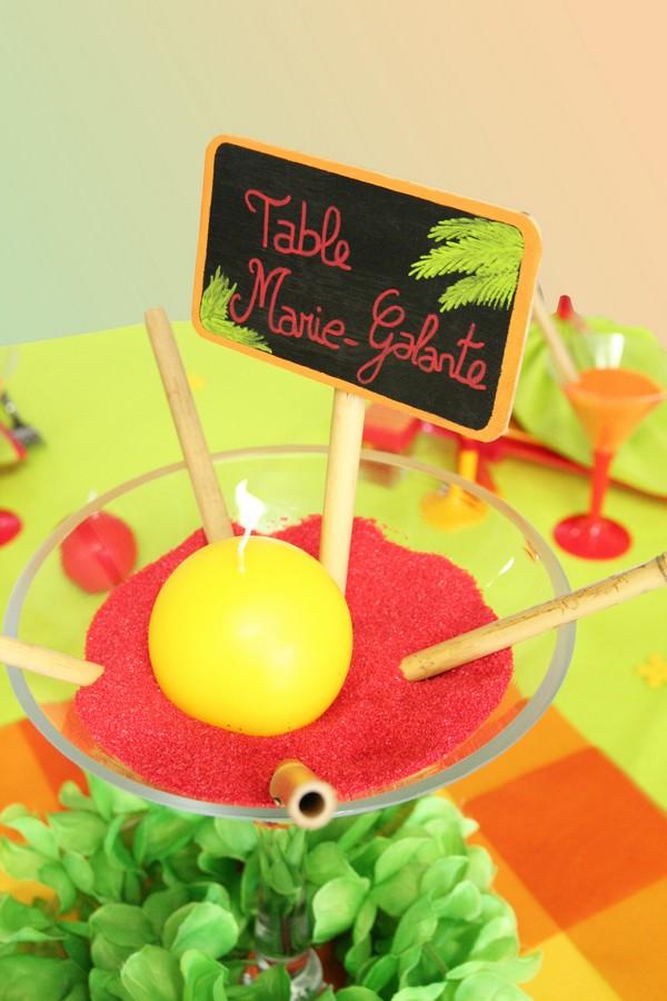 Une décoration de table pour un mariage tropical !