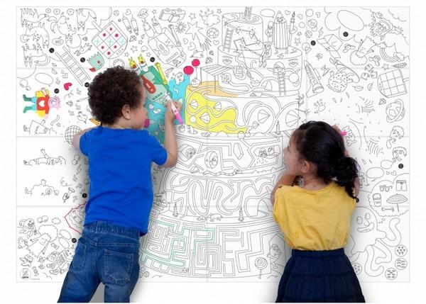 Coup de ♥ : un dessin XXL pour occuper les enfants !