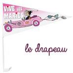 Drapeau de voiture Vive les mariés