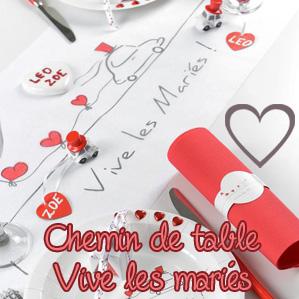 Chemin de table Vive les mariés
