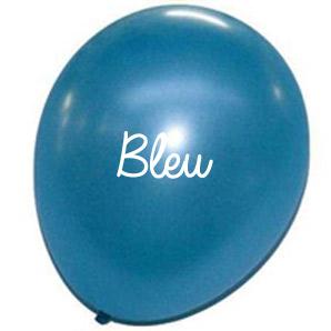 Ballons effet métal