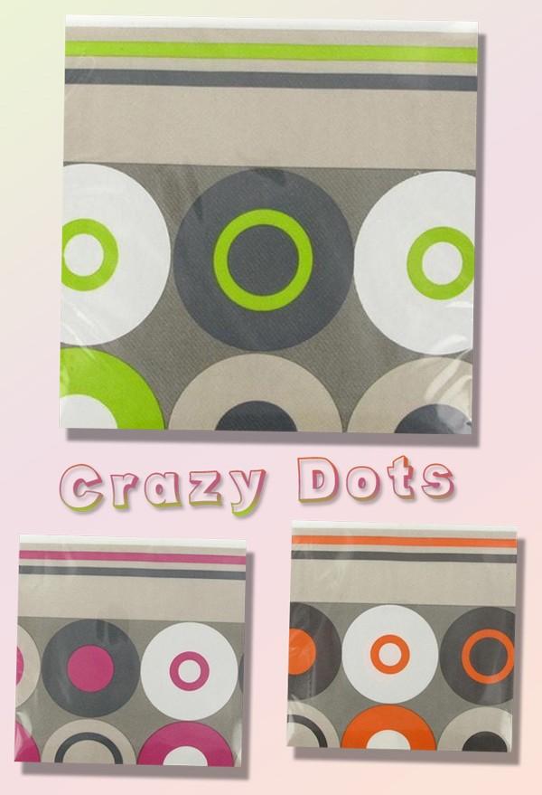 Serviettes en intissé Crazy Dots