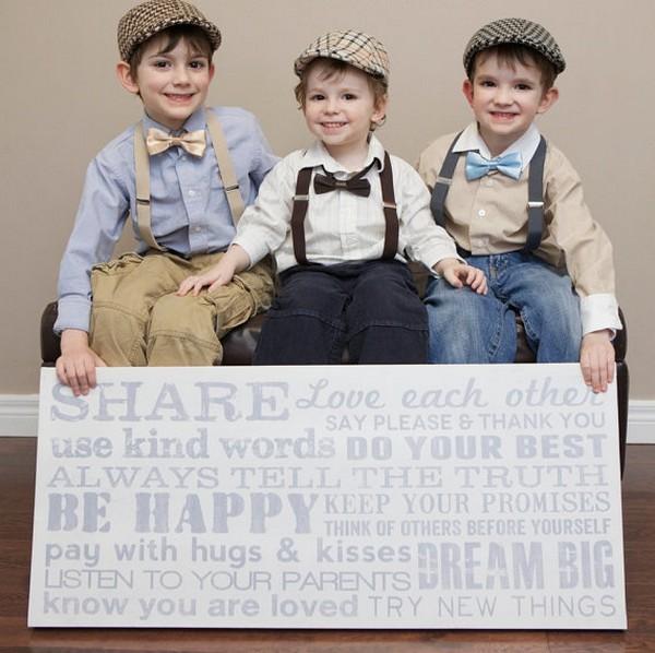 Des tenues vintage pour vos petits garçons d'honneur