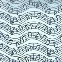 Chemin de table organza, musique, turquoise