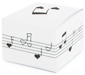 Boîte à musique candy blanche