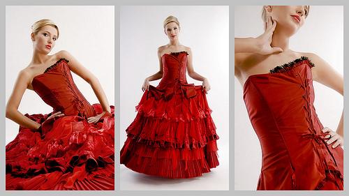 Mariage rouge passion : la robe