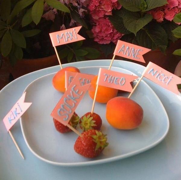 Des marque-places gourmands et fruités !