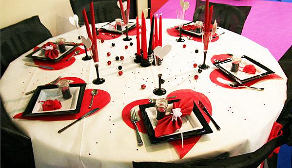 Mariage rouge passion : décoration de table